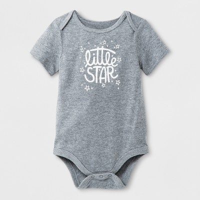 Baby Girls' Bodysuit - Cat & Jack™ Gray 0-3M