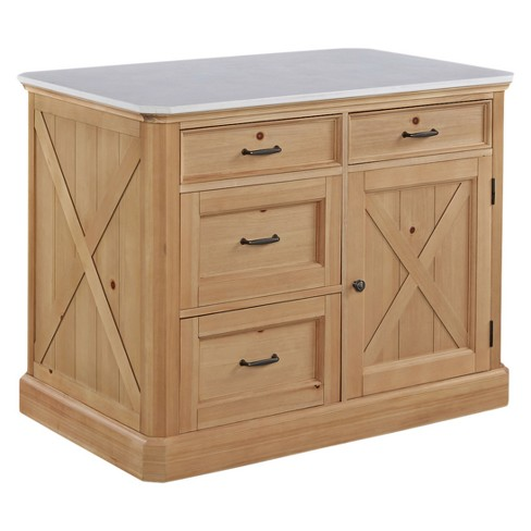 Country Lodge Kitchen Island - Pine - Home Styles
