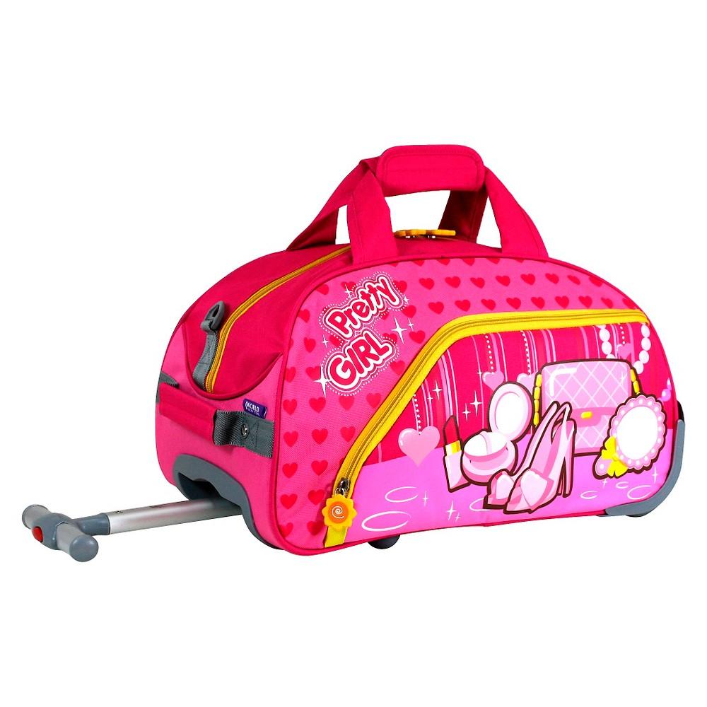 J World Pretty Girl Kids Rolling Duffel, Paradise Pink