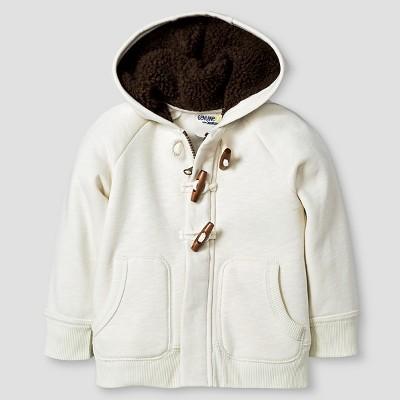 Baby Boys' Sherpa Lined Hoodie Sweatshirt - Cream 12M - Genuine Kids™ from Oshkosh®