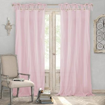 Jolie Semi-Sheer Tie Top Window Curtain Panel - Elrene Home Fashions