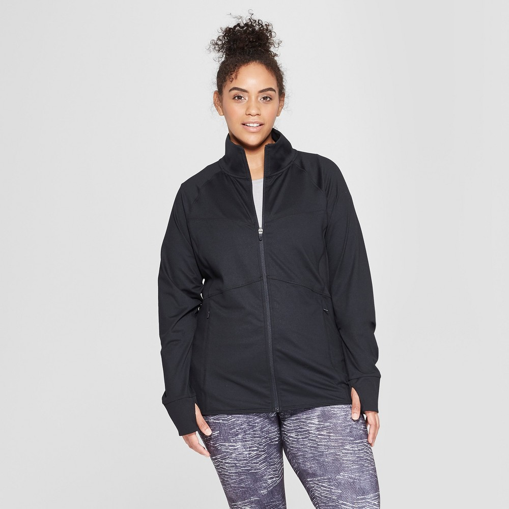 Women's Plus Size Full Zip Track Jacket - C9 Champion Black 3X