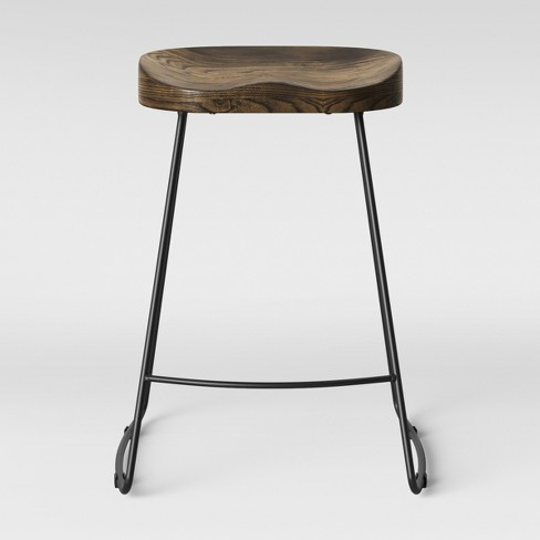 Superb Hull Low Back Counter Stool Wood Metal Black Threshold Gmtry Best Dining Table And Chair Ideas Images Gmtryco