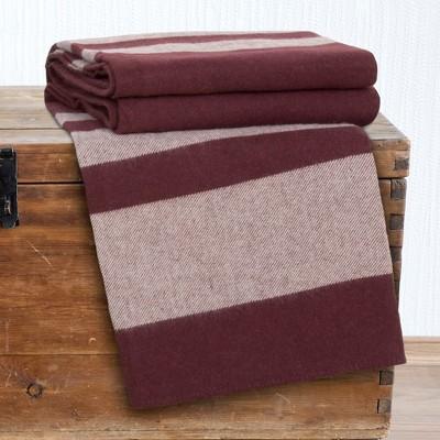 Australian Wool Blanket (Twin)Burgundy - Yorkshire Home®