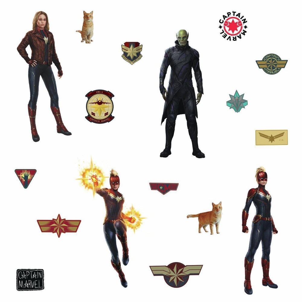 Image of Captain Marvel Peel and Stick Wall Decals - RoomMates