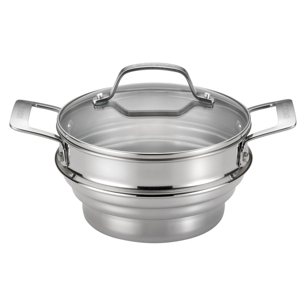 Image of Circulon Genesis Universal Stainless Steel Steamer with Lid - Silver