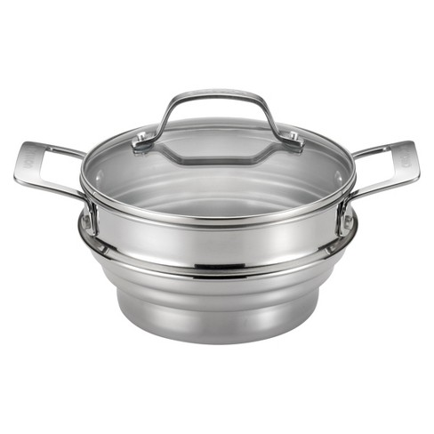 Circulon Genesis Universal Stainless Steel Steamer with Lid - Silver - image 1 of 3