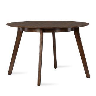 Henley Mid Century Round Dining Table Walnut – Novogratz
