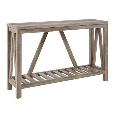 A Frame Rustic Entry Console Table - Saracina Home