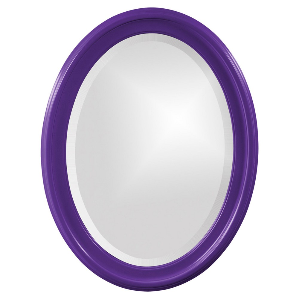 Image of Howard Elliott - George Glossy Royal Purple Oval Mirror