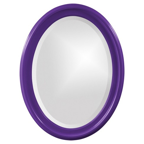 Howard Elliott - George Glossy  Royal Purple Oval Mirror - image 1 of 1