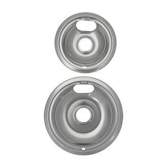 Universal Drip Bowls 2-pk. - Chrome