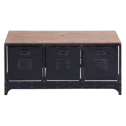 Enjoyable Wood Storage Bench 3 Drawers Black Olivia May Ncnpc Chair Design For Home Ncnpcorg