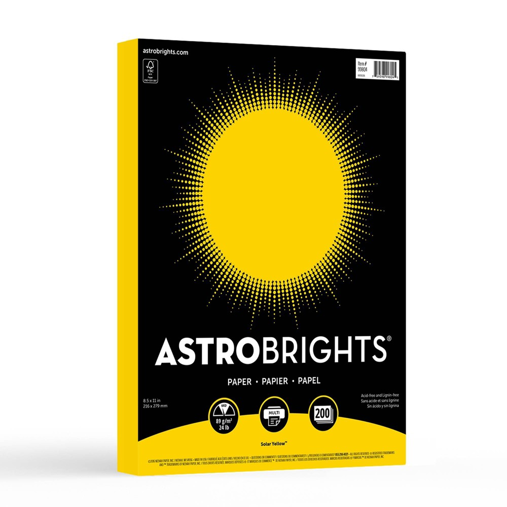 Image of Astrobrights 200ct Printer Paper - Yellow