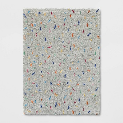 5'x7' Sprinkle Rug Gray - Pillowfort™
