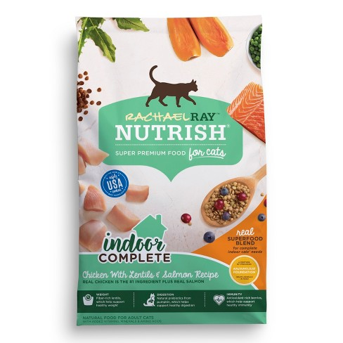Rachael Ray Nutrish Indoor Complete Natural Dry Cat Food Chicken Lentils & Salmon Recipe - image 1 of 2