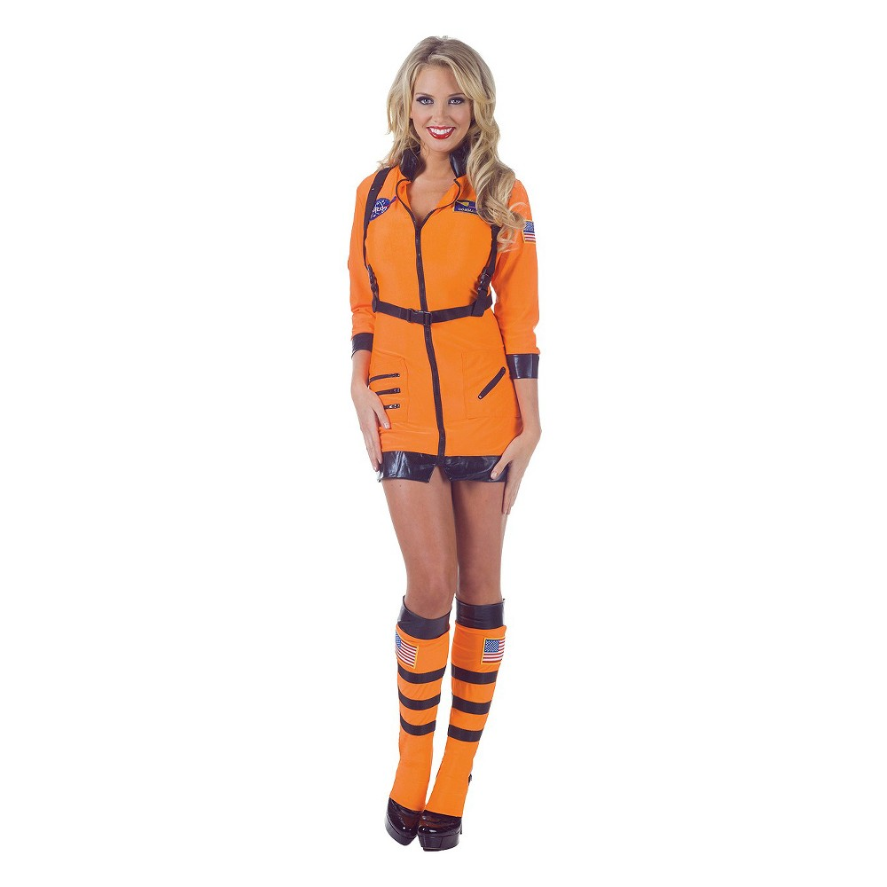 Women's Astronaut Costume Large, Orange