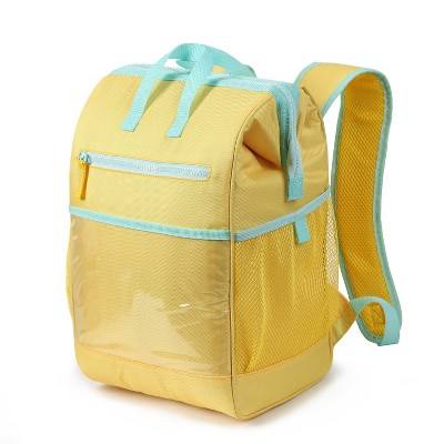 Wide Mouth Backpack Cooler Yellow - Sun Squad™