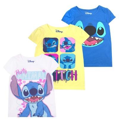 Disney Girl's 3-Pack Sleeve Graphic Tees for Kids