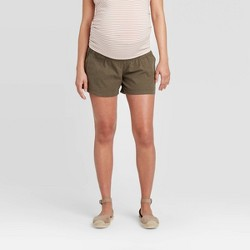 Maternity Twill Pull-On Shorts - Isabel Maternity by Ingrid & Isabel™