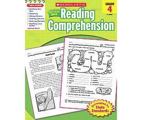 Scholastic Success With Reading Comprehension, Grade 4 (Paperback) - image 1 of 1