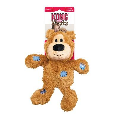 KONG Wild Knots Bear Dog Toy - Light Brown - M/L