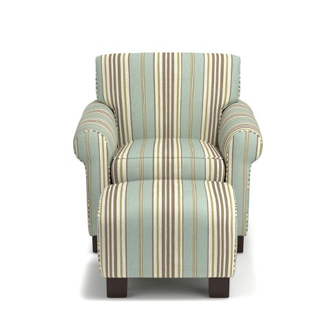 Wendy Chair & Ottoman - Summer Blue - Handy Living - image 1 of 6