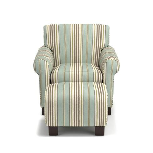 Wendy Chair Ottoman Summer Blue Handy Living Target