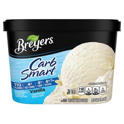 Breyers Carb Smart Vanilla Frozen Dairy Dessert - 48oz