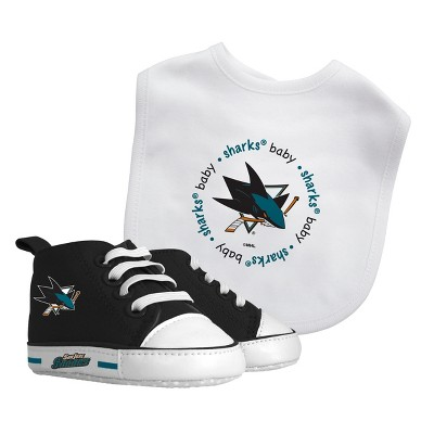 NHL San Jose Sharks Bib and Pre-Walker Shoe Set