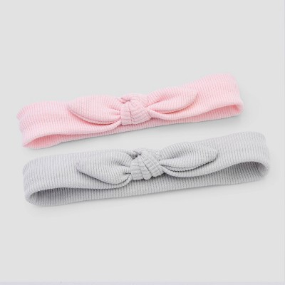 Baby Girls' 2pk Ribbed Headwrap - Cloud Island™ One Size