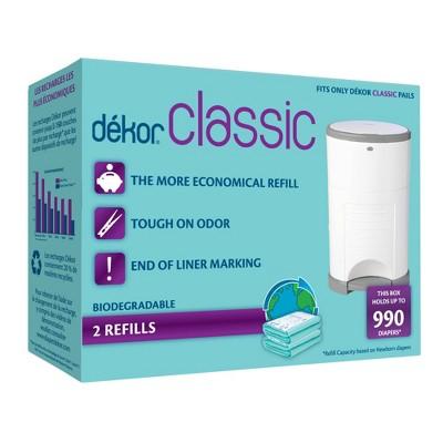 Dekor Classic Diaper Pail Biodegradable Refills - 2pk