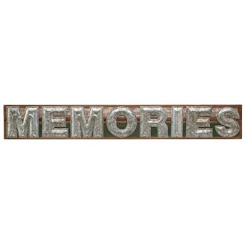 Words Of Wisdom Wall Art Memories Made Of Galvanized Metal Wood