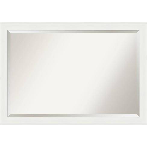 39 X 27 Vanity White Framed Bathroom Vanity Wall Mirror Amanti Art Target