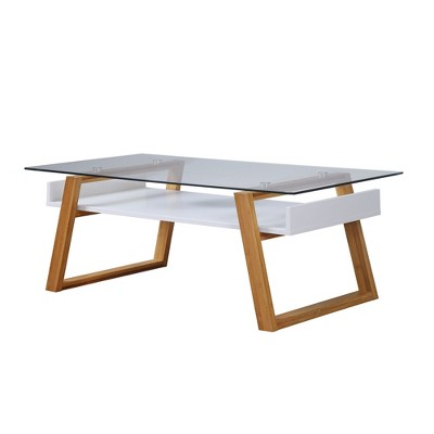 Oslo Sundance Coffee Table White/Bamboo Brown   Johar Furniture : Target