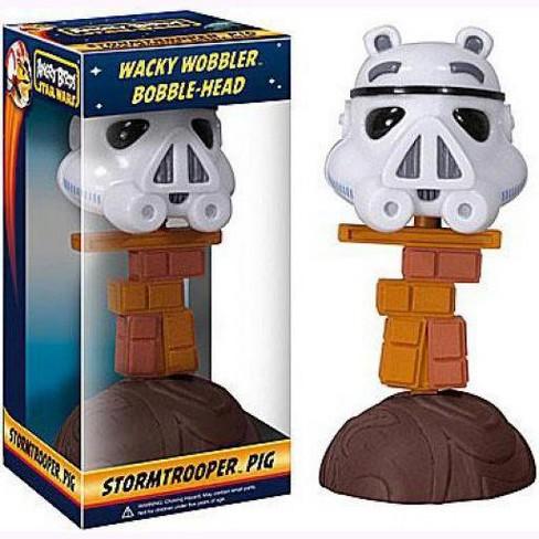 Funko Star Wars Angry Birds Wacky Wobbler Stormtrooper Pig Bobble Head - image 1 of 1