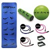 Prism Fitness 400-150-031-1 Smart Necessity Resistance Band Exercise Mat Fitness Cable Stability Ball Roller Bundle - image 2 of 4