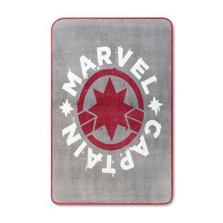 """Marvel Captain Marvel 46""""x60"""" Throw Blanket Gray"""