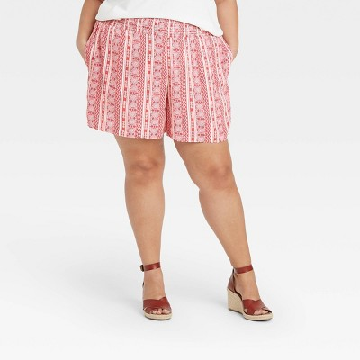 Women's Printed Smocked Waist Pull-On Shorts - Knox Rose™