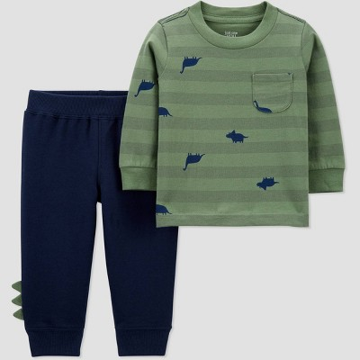 Baby Boys' 2pc Dino Top & Bottom Set - Just One You® made by carter's Green