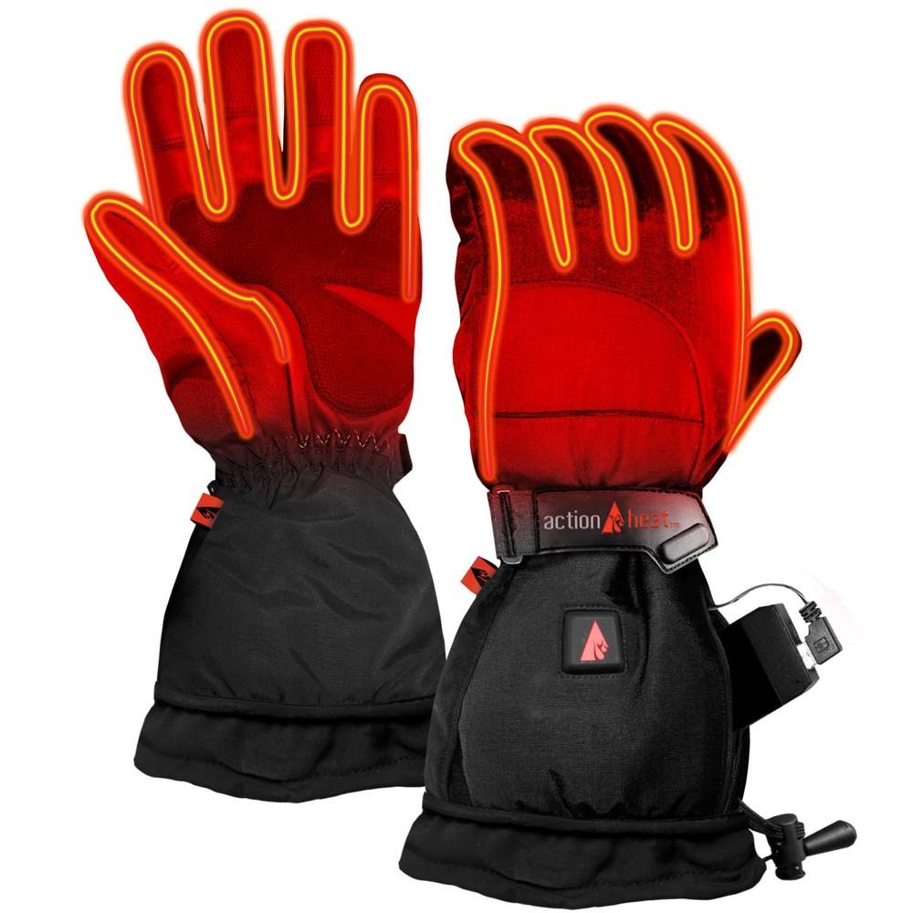 Image of ActionHeat 5V Battery Heated Men's Snow Glove - Black M, Adult Unisex, Size: Medium