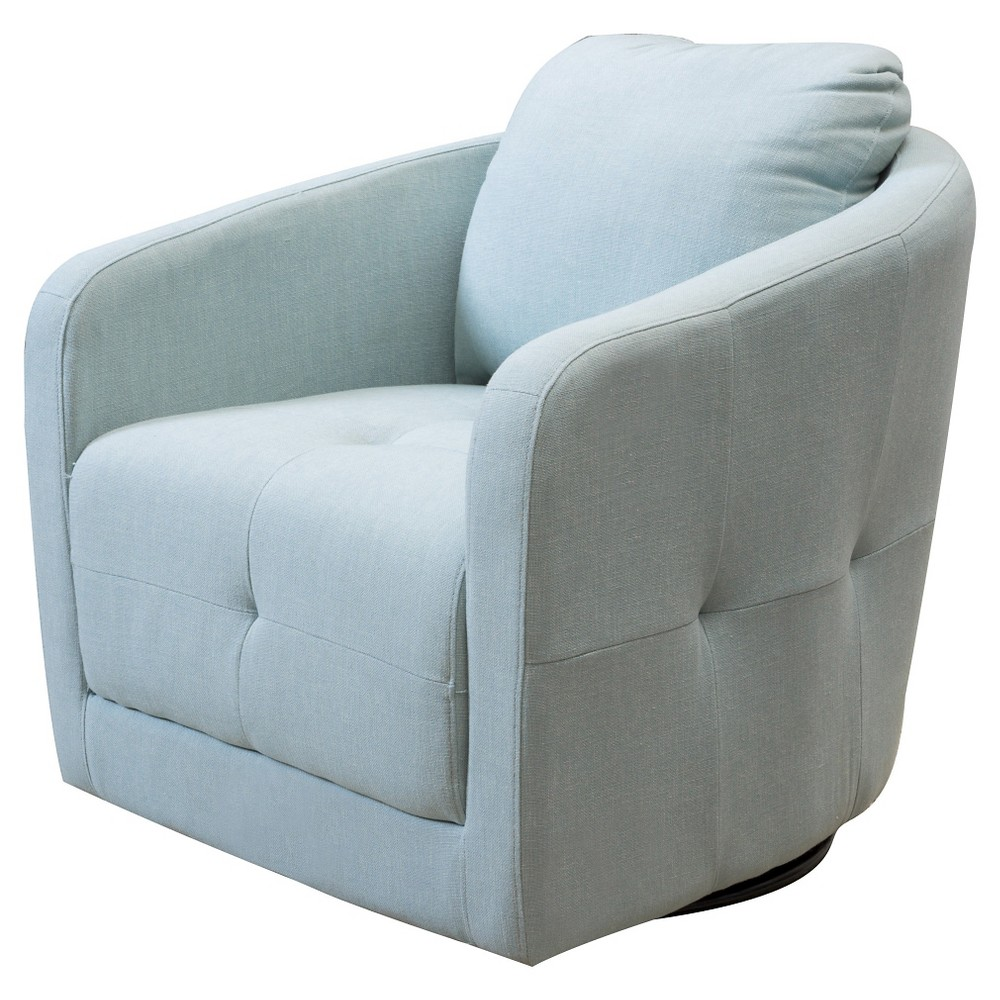 Concordia Fabric Swivel Chair - Light Blue - Christopher Knight Home, Lite Blue
