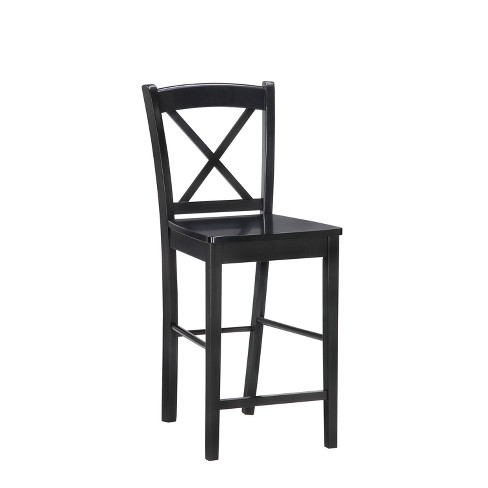30 Torino X Back Wood Bar Stool Black Linon Target