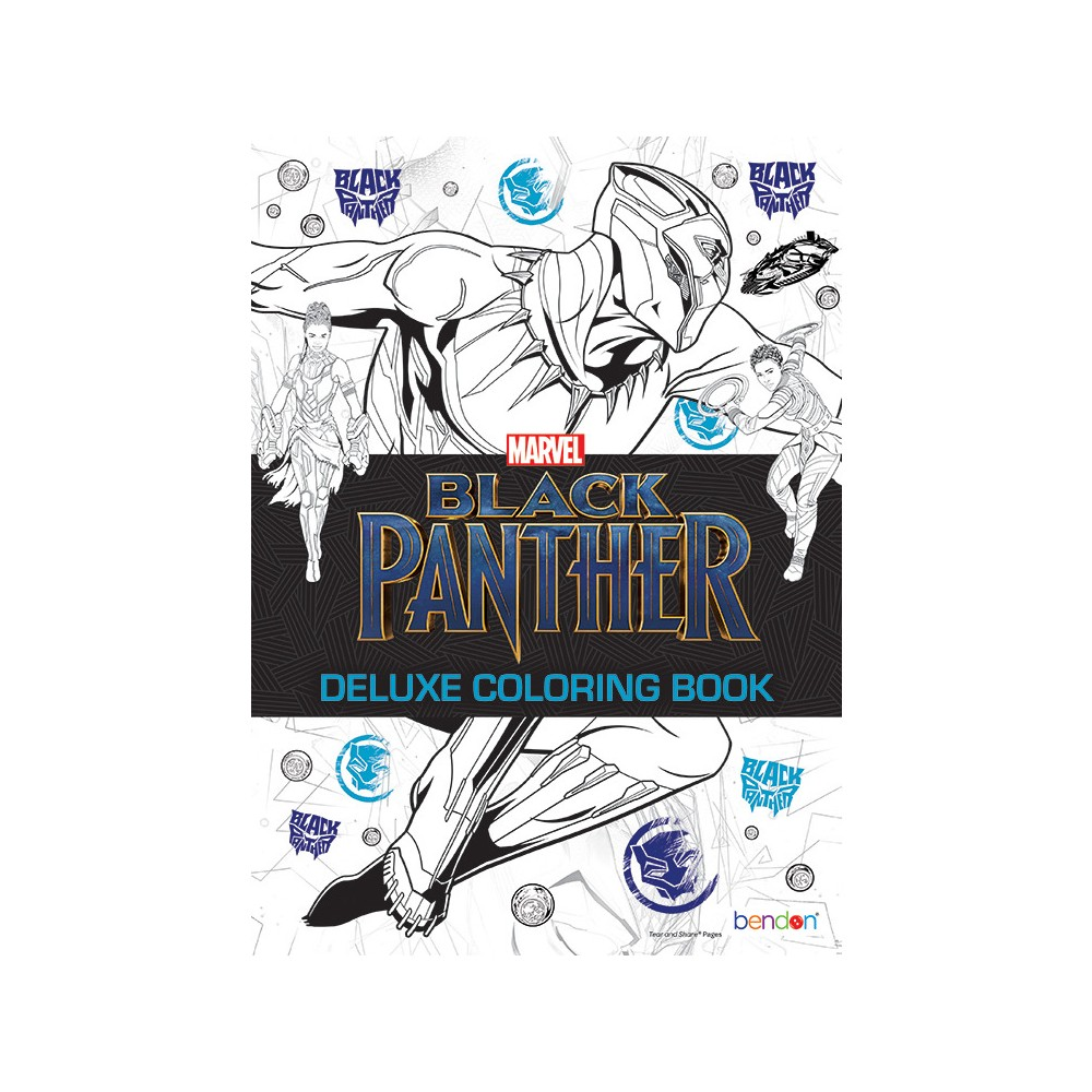 Image of Marvel Black Panther Deluxe Coloring Book - Bendon
