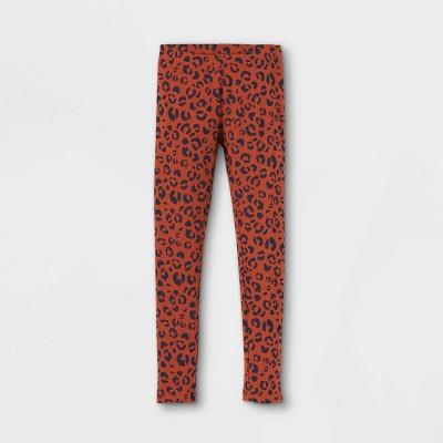 Girls' Animal Leggings - Cat & Jack™ Orange