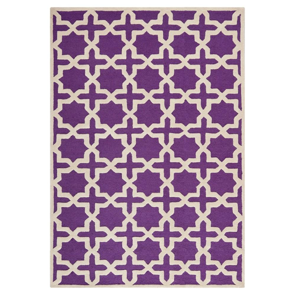 Marnie Texture Wool Rug - Purple / Ivory (6' X 9') - Safavieh, Purple/Ivory