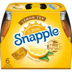 Snapple Lemon Tea - 6pk/16 fl oz Glass Bottles