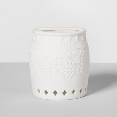 Mallorca Porcelain Toothbrush Holder White - Opalhouse™