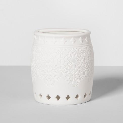 Mallorca Porcelain Toothbrush Holder White - Opalhouse™ - image 1 of 3