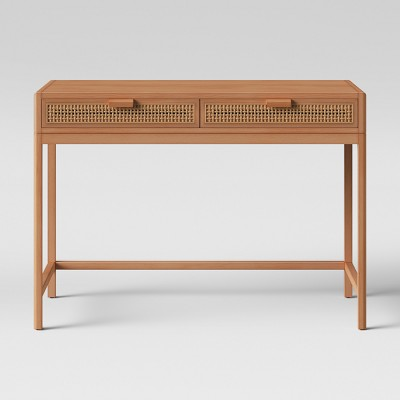 Minsmere Caned Writing Desk Natural Brown - Opalhouse™